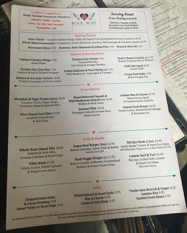 rr menu
